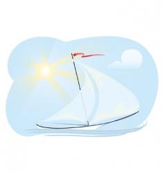 sun ship vector image