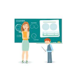 Teacher and student vector