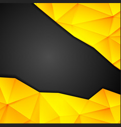 Tech geometry yellow and black background vector