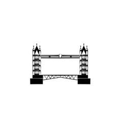 tower bridge london bridge black on white vector image