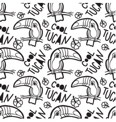 tropical toucan seamless pattern vector image
