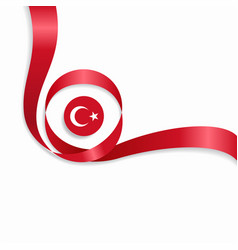 Turkish wavy flag background vector