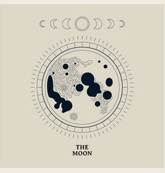 Vintage moon phase astronomy vector