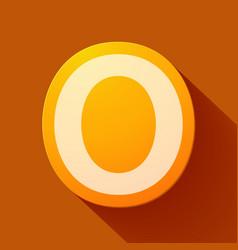 Volume icons alphabet o vector