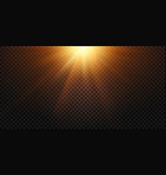 warm light rays magic lights lens flare sun vector image