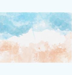 Watercolour summer beach background vector