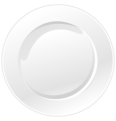 White plate isolated on white background vector