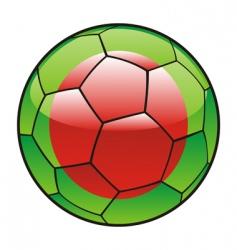 bangladesh flag on soccer ball vector image