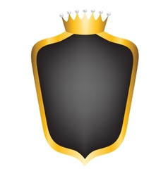 black shield and crown vector image