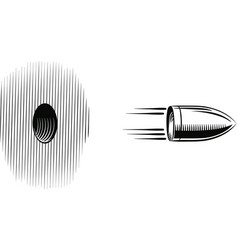 bullet shot which goes out from a hole vector image