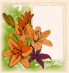 floral frame eps 10 vector image