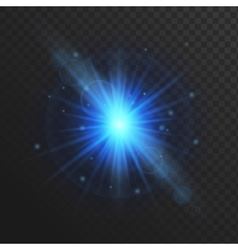 Glow light effect stars burst with sparkles vector image