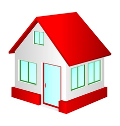 house with red roof vector image vector image