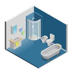 Bathroom Interior Design vector image vector image