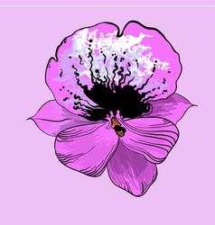 bright elegant flower concept vector image