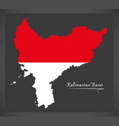 kalimantan barat indonesia map vector image