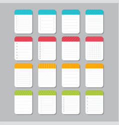 sheets of paper collection of various note vector image