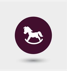 toy pony icon simple vector image