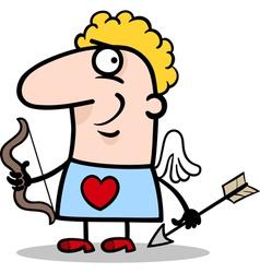 valentine man in cupid costume cartoon vector image