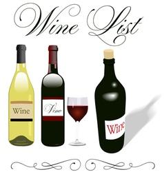 wine bottles vector image
