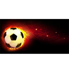 Ball and fire vector image