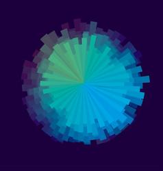glitch round design element vector image