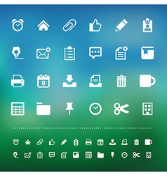 Retina office tools icon set vector image vector image