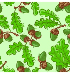 seamless pattern set with acorns vector image vector image