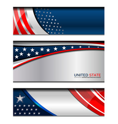 usa modern backgrounds vector image vector image