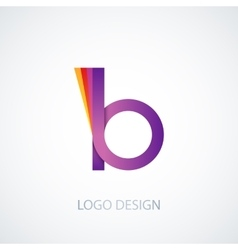 colorful logo letter b vector image vector image