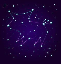 fantasy constellation of a pig vector image