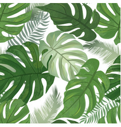 floral seamless pattern tropical leaves vector image vector image