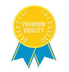 Gold Label Premium Quality vector image