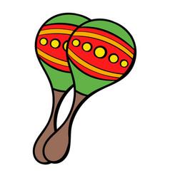 maracas icon cartoon vector image vector image