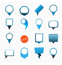 Pointers labels graphics blue variant vector image vector image