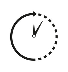 time-clock around icon vector image vector image