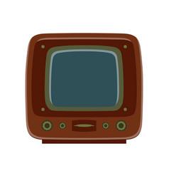 tv retro television icon old vintage screen vector image
