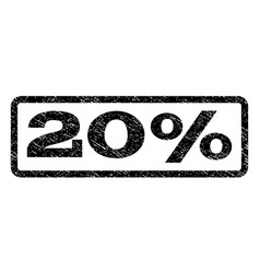 20 percent watermark stamp vector image