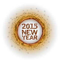2015 fireworks orange vector image