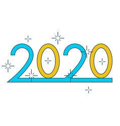 2020 figures on white background for greeting card vector image
