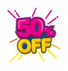 50 percent off - logo template vector