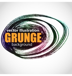 Abstract isolated black ink stain vector image