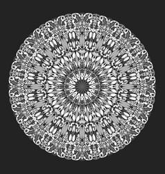 Abstract monochrome flower mandala ornament design vector