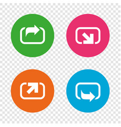 Action icons share symbols vector