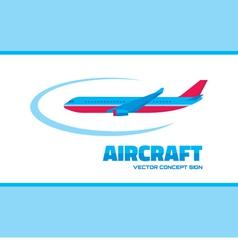 Aircraft - logo concept vector
