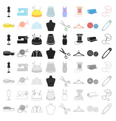 Atelie set icons in cartoon style big collection vector