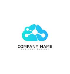atom cloud logo icon design vector image