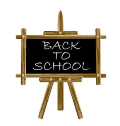 Back to school easel board vector image