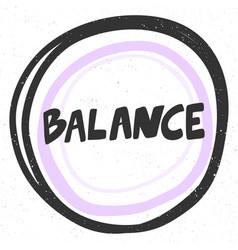 Balance sticker for social media content vector