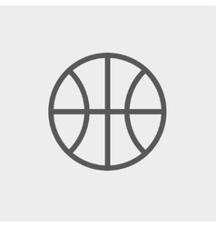 Basketball ball thin line icon vector image